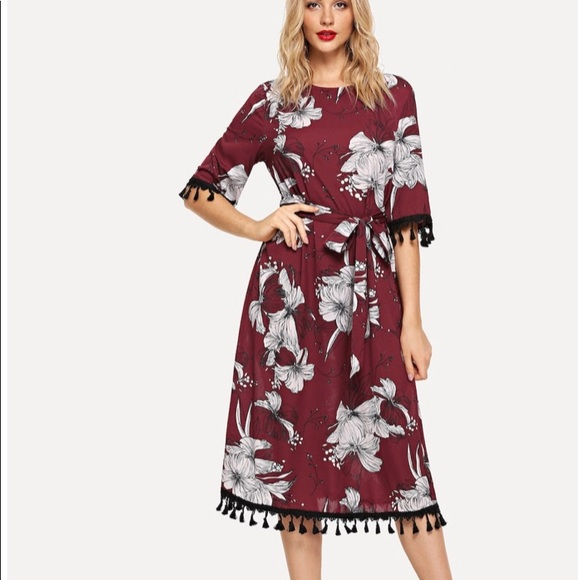 891ad369c0 Tassel Detail Self Belted Floral Dress NWT · SHEIN.  M_5bf5d6098ad2f9d22aa14809. M_5bf5d60c95199665d1ae5a2e.  M_5bf5d60e45c8b3c8acdacaed